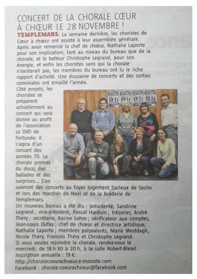 Article journal octobre 2015